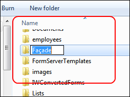 Rename through Windows Explorer